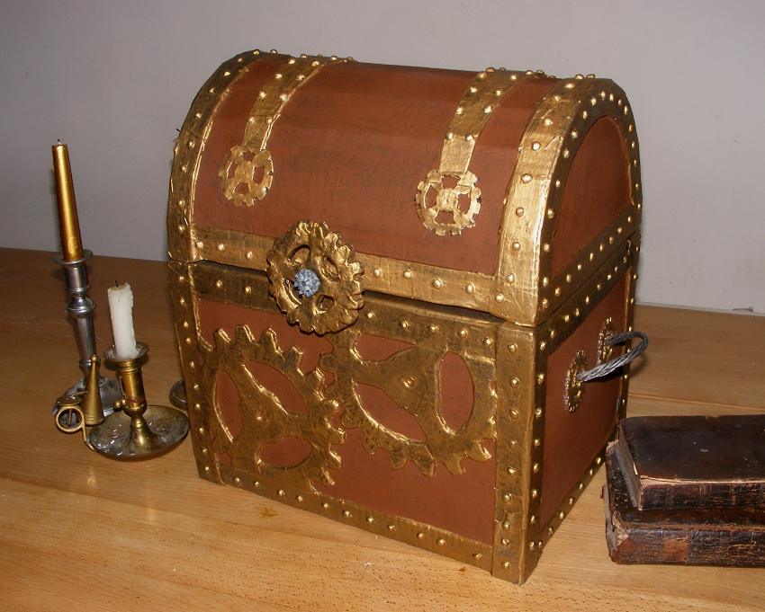 Streampunk treasure chest elizabeths kitchen diary steampunk treasure chest made from recycled materials publicscrutiny Image collections