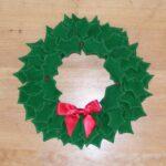 Felt Christmas Holly Wreath