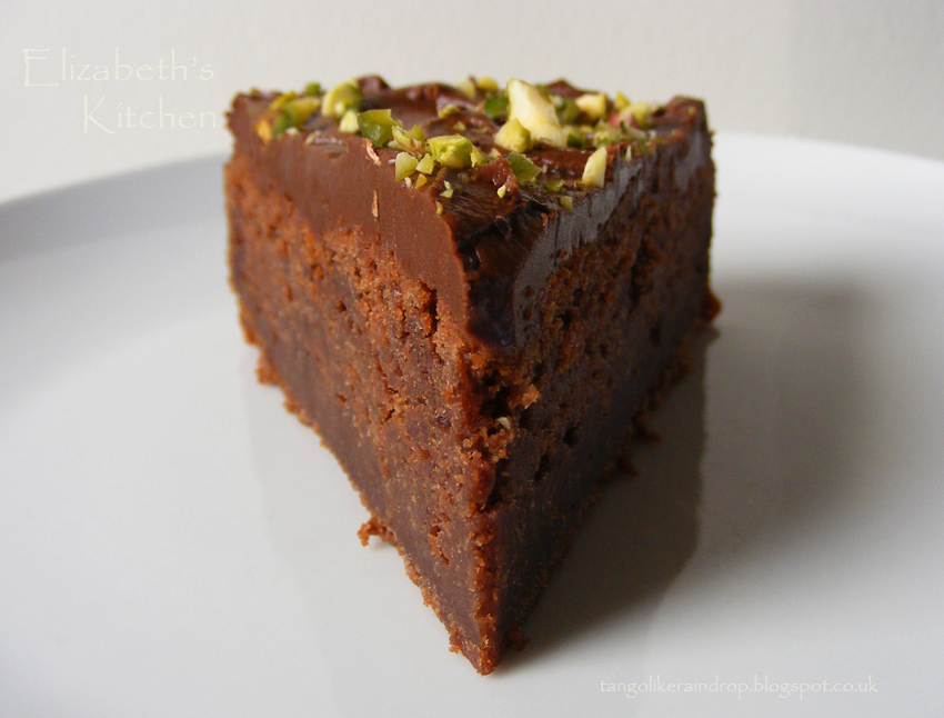 Chocolate Pistachio Cake - Elizabeth's Kitchen Diary