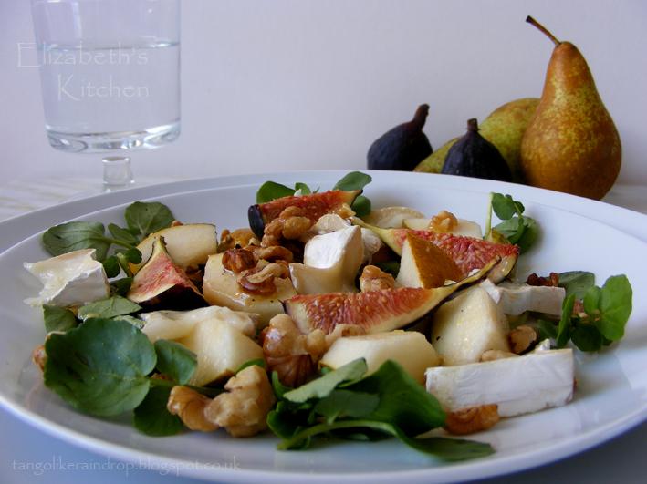 Fresh Fig, Goats Cheese, Pear & Walnut Salad   Elizabeth's ...