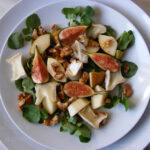 Fresh Fig, Goats Cheese, Pear & Walnut Salad