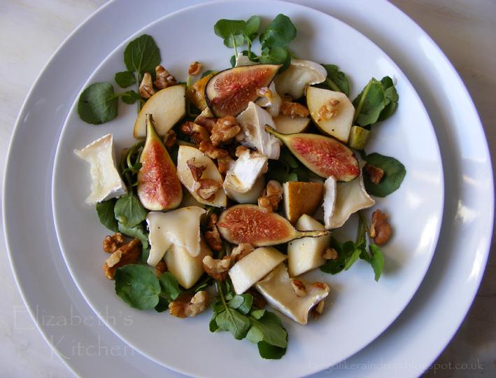 Fresh Fig, Goats Cheese, Pear & Walnut Salad - Elizabeth's Kitchen ...