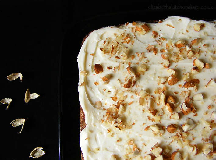 Apple & Cardamom Cake with Quince Frosting