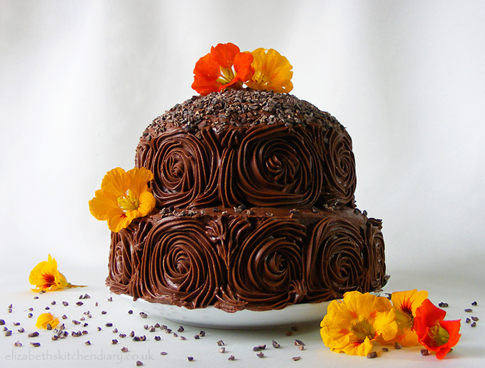 Chocolate Courgette Cake by Elizabeth's Kitchen Diary