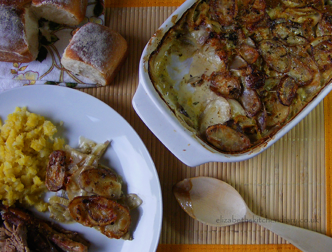 Shetland Black Potato and Fennel Gratin