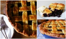 blueberry pie collage