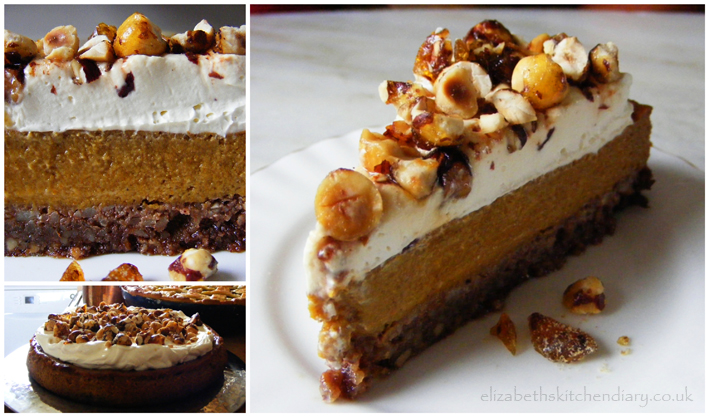 pumpkin pie with hazelnut praline recipes dishmaps spiced pumpkin pie ...
