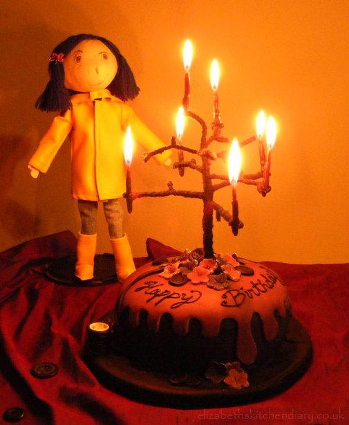 Amazing Coraline Birthday Cake Elizabeths Kitchen Diary Funny Birthday Cards Online Inifodamsfinfo