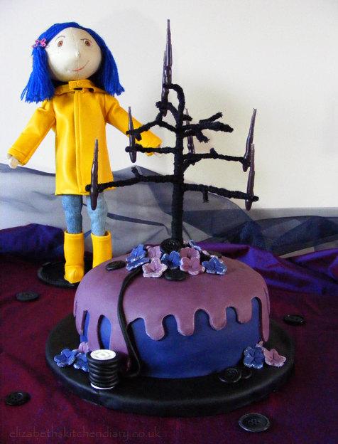 Peachy Coraline Birthday Cake Elizabeths Kitchen Diary Funny Birthday Cards Online Inifodamsfinfo