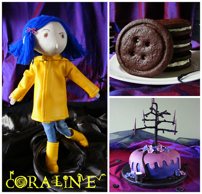 coraline party collage