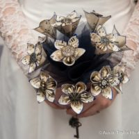 Origami Steampunk Wedding Bouquet Tutorial