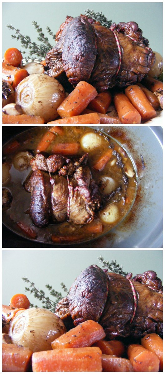 Slow Cooker Rolled Brisket with Red Wine and Thyme