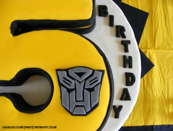 Admirable Transformers Birthday Cake Giveaway Elizabeths Kitchen Diary Personalised Birthday Cards Paralily Jamesorg