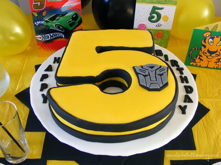 Pleasing Transformers Birthday Cake Giveaway Elizabeths Kitchen Diary Personalised Birthday Cards Paralily Jamesorg