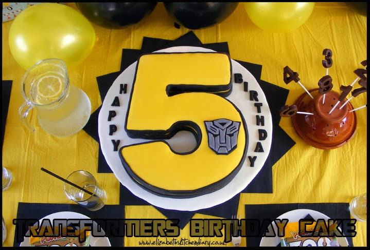 Awesome Transformers Birthday Cake Giveaway Elizabeths Kitchen Diary Funny Birthday Cards Online Alyptdamsfinfo