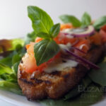 Bruschetta with St. Ninians Soft Cheese & Smoked Sea Salt