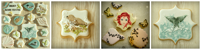 honeycat cookies collage