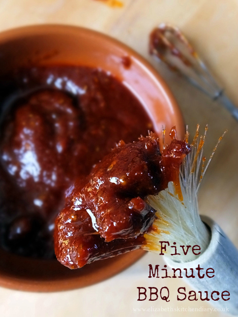 Five Minute BBQ Sauce by Elizabeth's Kitchen Diary