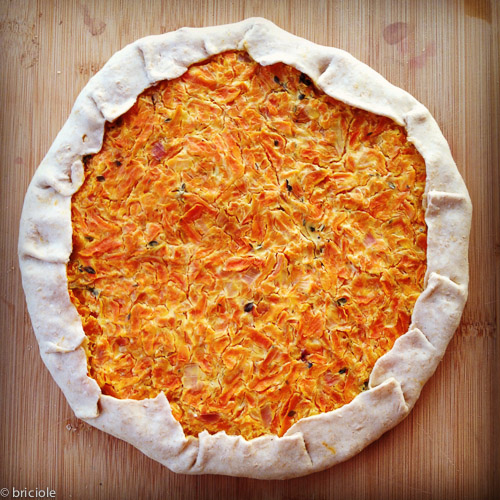 Savoury Carrot Fromage Blanc Tart by Pulcetta