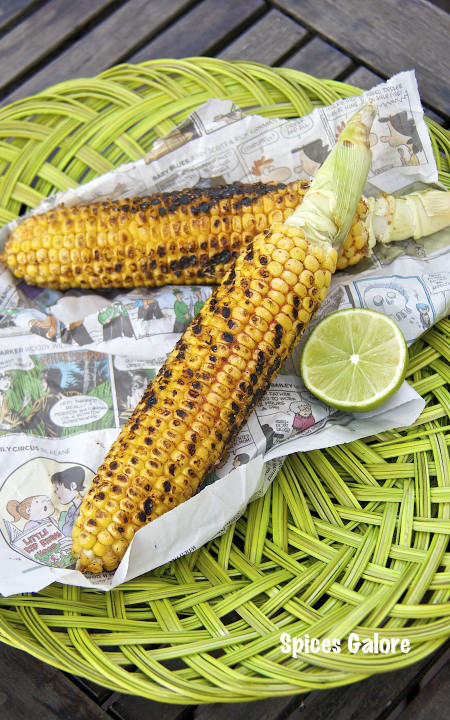 Grilled Indian Style Corn by Spices Galore