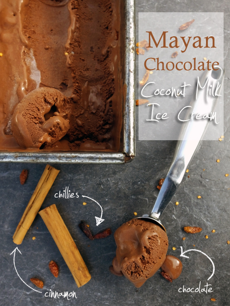 Mayan Chocolate Ice Cream (Vegan)