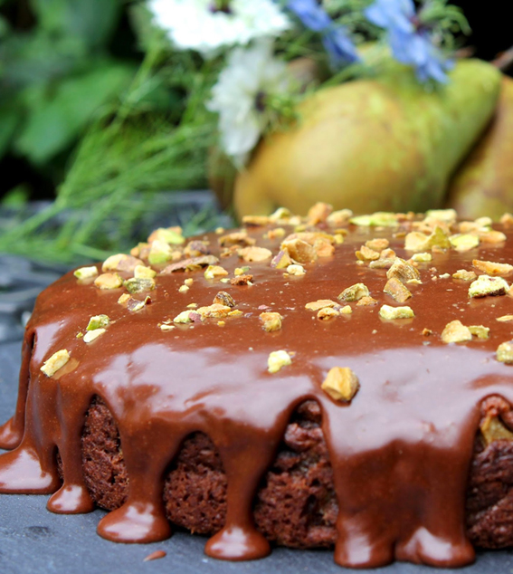 Pear and Chocolate Cake by the Gluten Free Alchemist