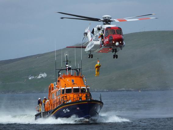 RNLI and Shetland Coastguard Exercise