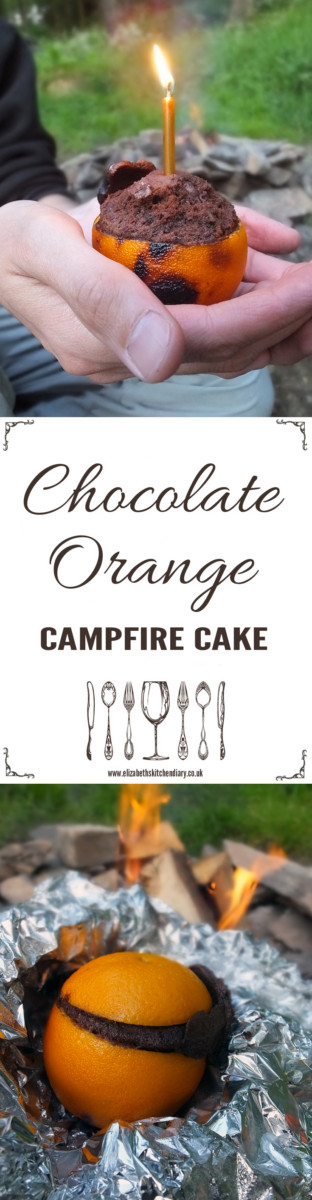 Chocolate Orange Campfire Cake - made with real ingredients! Not a boxed cake mix to be seen!