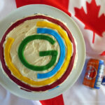 Commonwealth Games 2014 Celebration Cake with Irn Bru Frosting by Elizabeth's Kitchen Diary