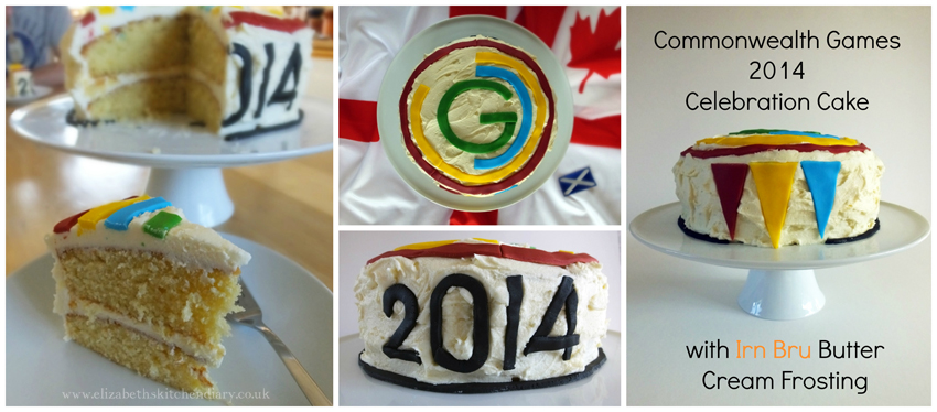 Commonwealth Games Cake collage