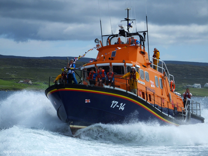 Commonwealth Baton on Aith Lifeboat