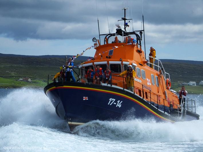 Commonwealth Baton on Aith Lifeboat