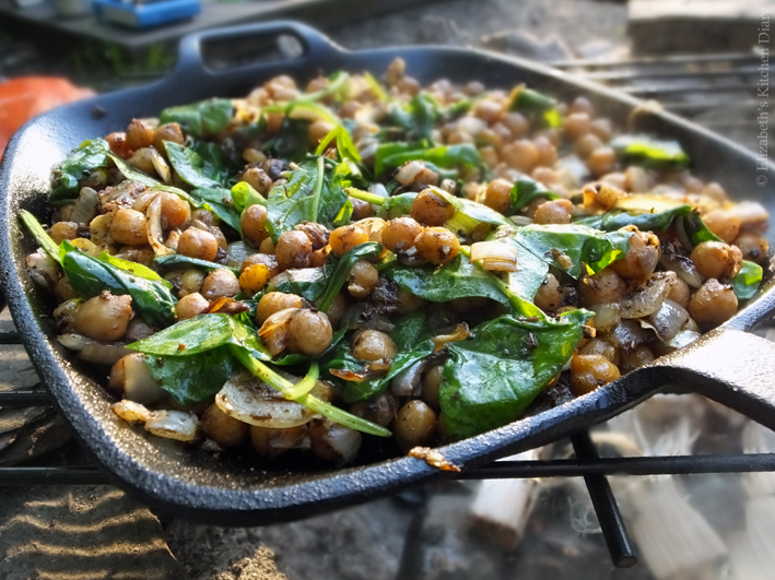 Middle Eastern Spiced Camp Fire Chickpeas - Elizabeth's Kitchen Diary