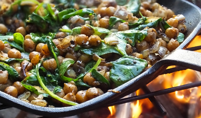 Middle Eastern Spiced Camp Fire Chickpeas