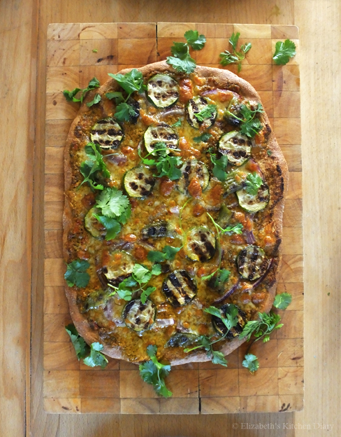 Heritage Wholegrain Pizza with Summer Pesto and Grilled Vegetables
