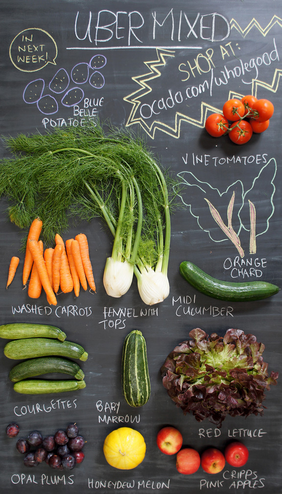 vegetable box contents