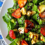 Avocado & Strawberry Salad with a Balsamic Reduction
