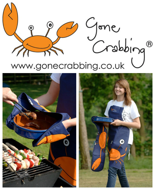 Gone Crabbing Big Crab Apron and Oven Glove Set