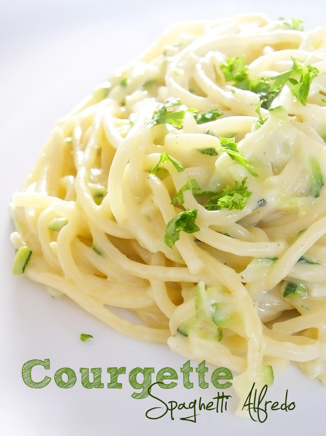 courgette spaghetti alfredo