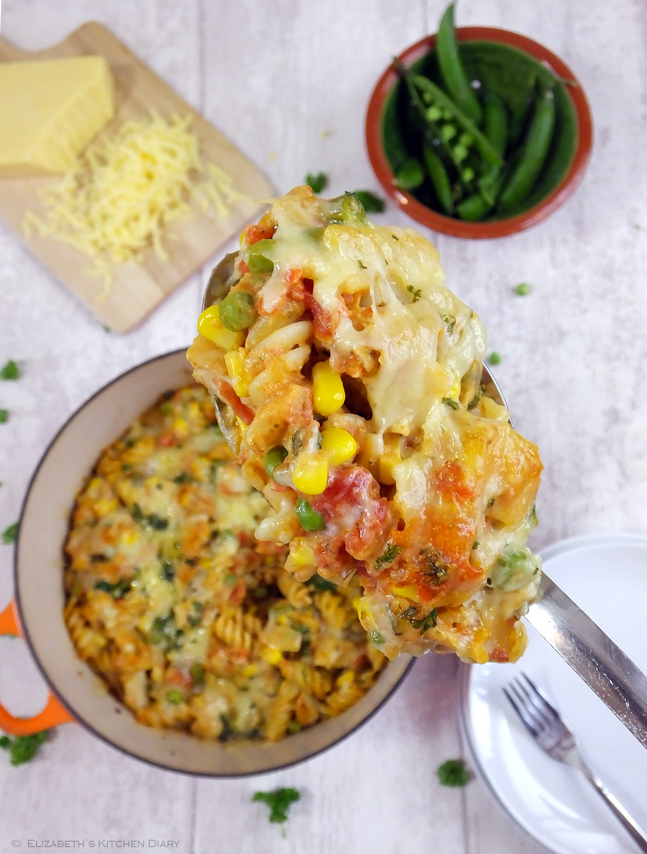 Four Cheese Chargrilled Chicken Pasta Bake