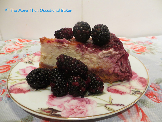 blackberry lemon cheesecake