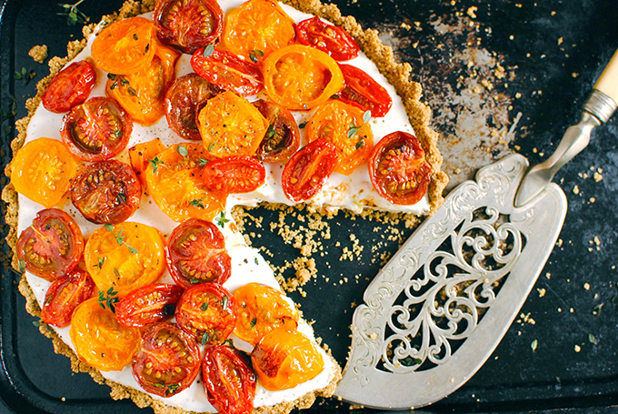 Tomato Tart with Nut and Seed Crust