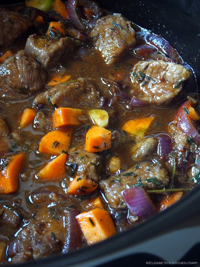 slow cooker beef and ale pie