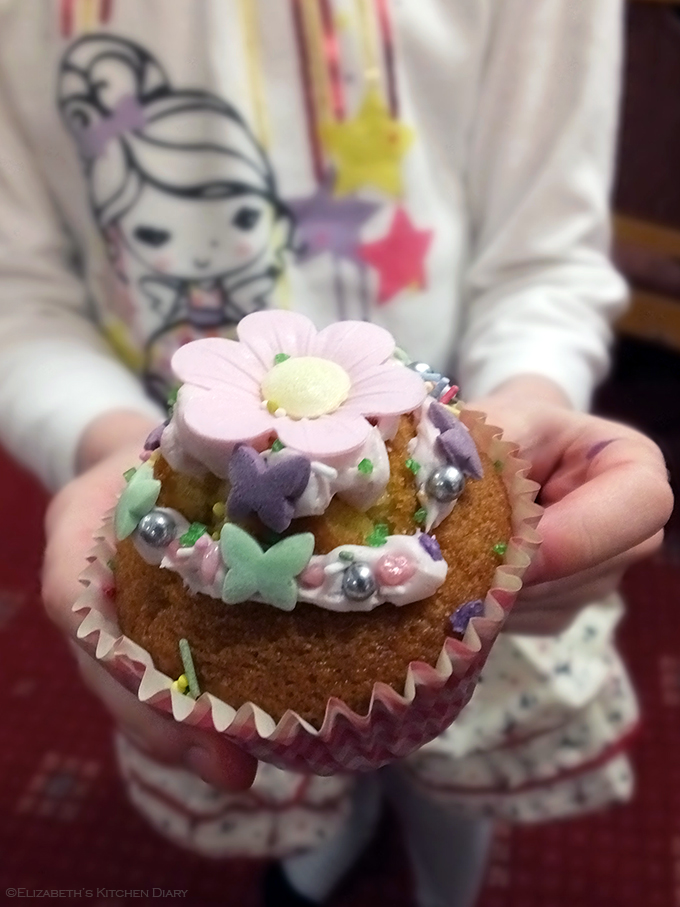 Decorated cupcake