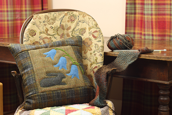 harris tweed pillow pattern