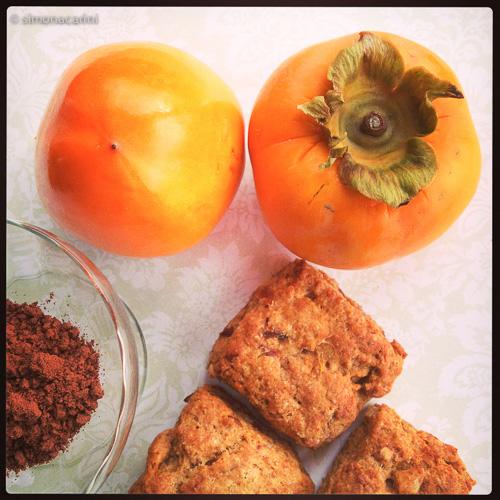 persimmon scones