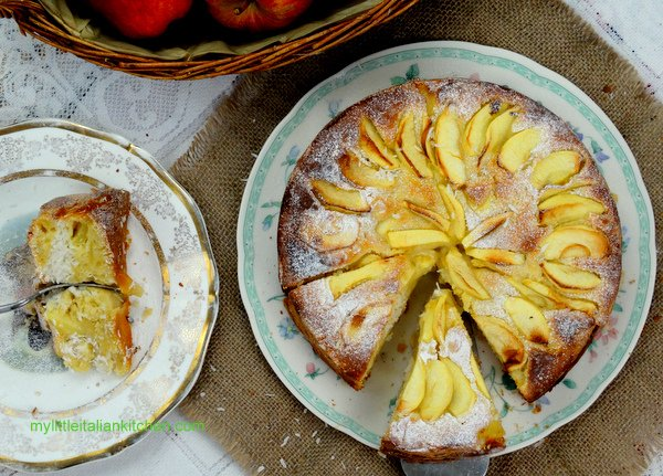Apple & Yogurt Cake with Coconut