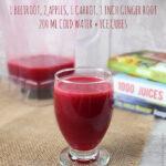 Beetroot carrot apple juice