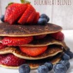 Buckwheat Blini Pancakes {Gluten Free}