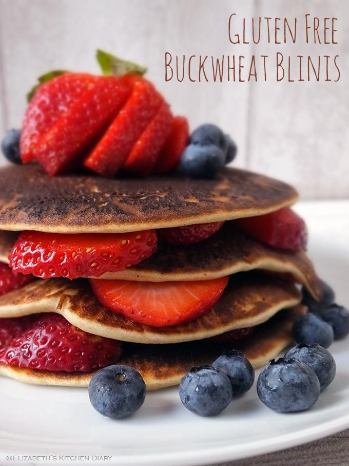 Gluten Free Buckwheat Blini Pancakes